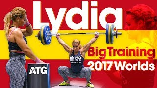 Lydia Valentin Heavy Training Session (115kg Snatch / 142kg Clean & Jerk!) 2017 World Championships