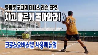 테니스, 공을 친 후 빠르게 준비하는 법! 크로스오버스…