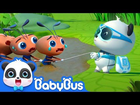 Super Panda Save Butterfly Babies   Super Panda Rescue Team   BabyBus Cartoon for Kids