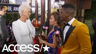 Jamie Lee Curtis Looks Unrecognizable With New White Hair At 2019 Golden Globes | Access