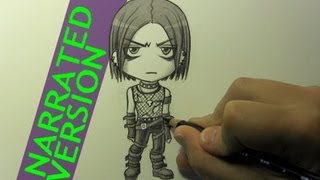 """How to Draw a Chibi """"Goth"""" Character"""