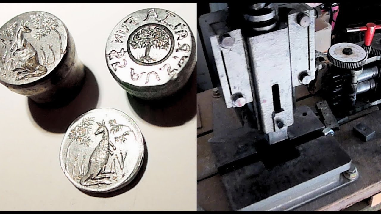 How to Make an Australian fantasy Silver Coin using a fly press