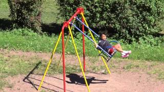 Kids On Swing At Outdoor Park Hanging Seat Music Video Lullaby One 1 Hour Version