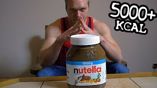 1KG NUTELLA CHALLENGE (5000+ KCAL) | [Epic Cheat Meal]
