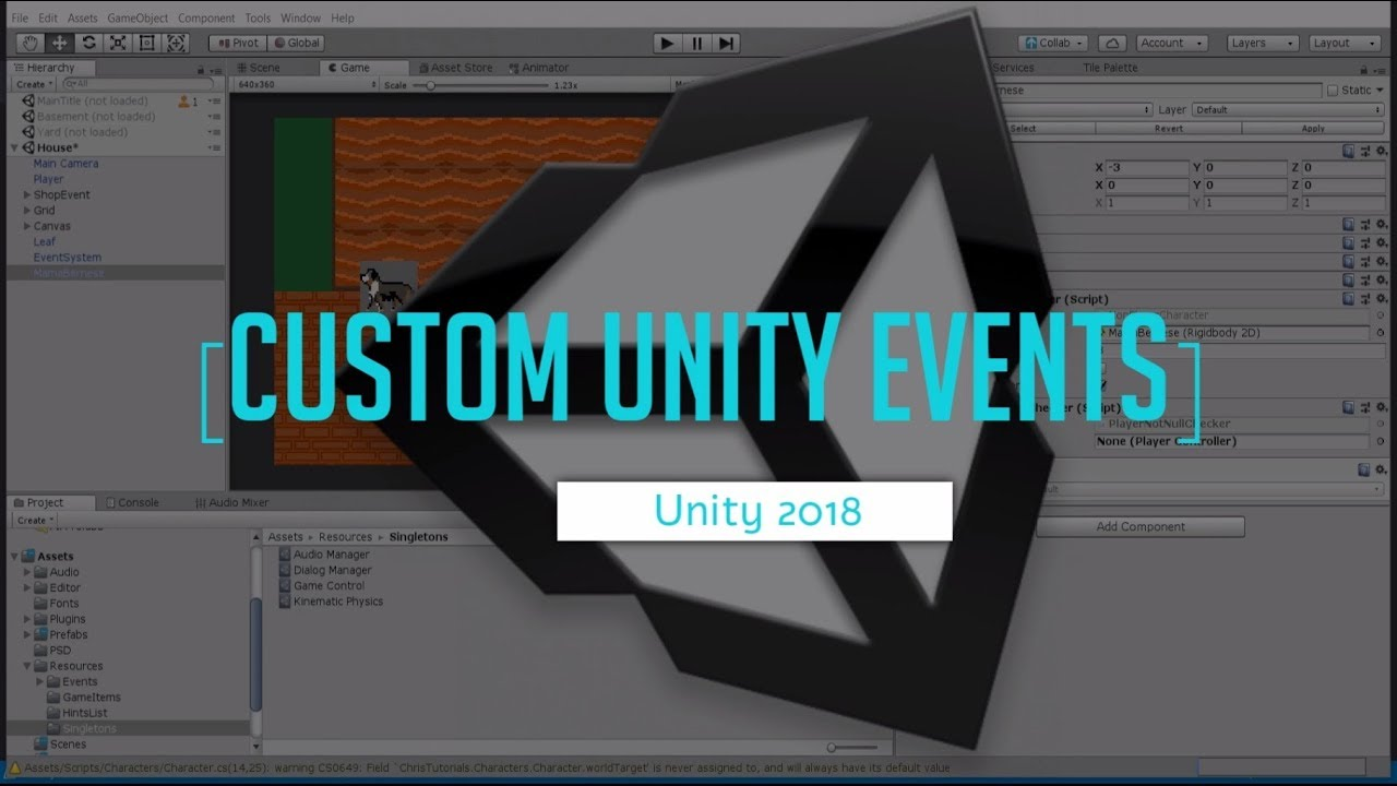 Custom Unity Events and Delegate Actions in Inspector | Unity 2018 C# Game  Development