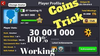 8 Ball Pool - Coins Trick 100% Working Trick 30m Coins (Not Working As Of 27 July 2017)