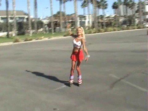 Cute California Skating Girl Debbie Merrill.wmv