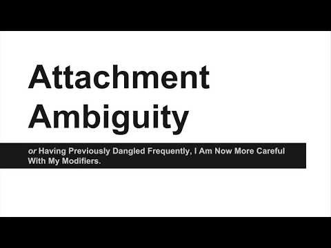 Grammar Day: Attachment Ambiguity