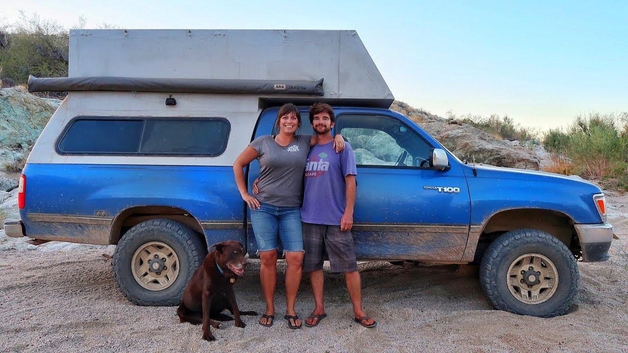 Couple Builds Diy Truck Camper To Travel Full Time Overland Travel Vlog