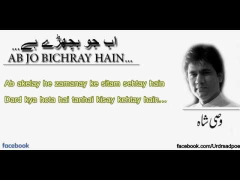 Ab Jo Bichray Hain Toh Ehsaas Hua Hai Hum Ko - Wasi Shah