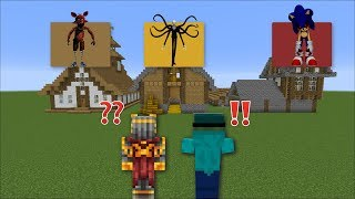 MINECRAFT DON'T CHOOSE THE WRONG SPOOKY HOUSE !! DANGEROUS MOBS INSIDE !! Minecraft Mods