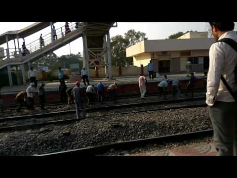 Mancherial railway station workers workout.