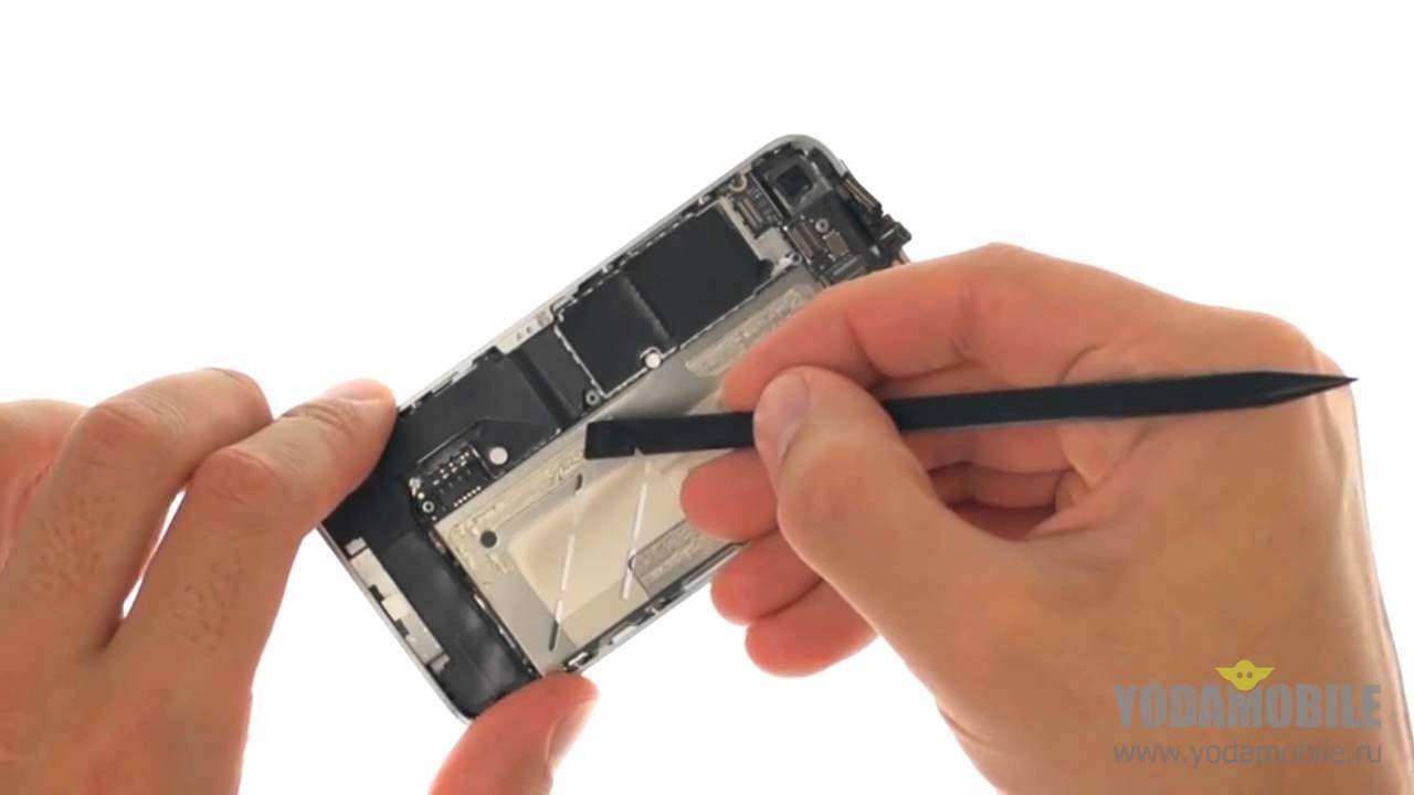 инструкция замена переднего стекла iphone 4