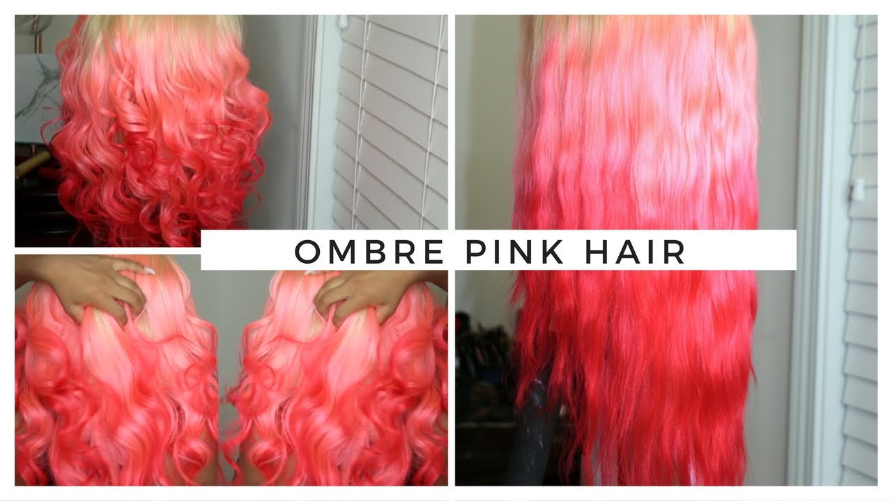 DIY Pink HAIR Ombre Effect | Blac Chyna Inspired - YouTube