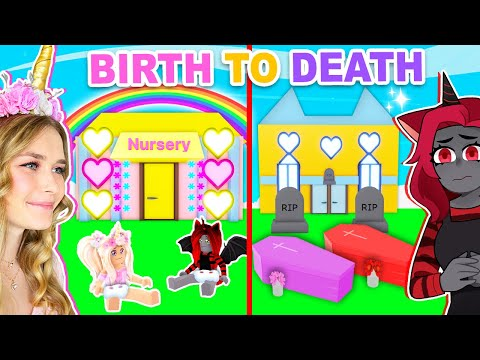 BIRTH To DEATH Build Challenge In Adopt Me! (Roblox)