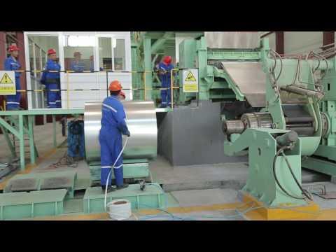 Видео Рулонная оцинкованная сталь 1500 мм