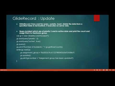 GlideRecord - Update [ServiceNow]