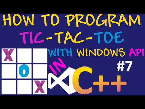 How to program Tic Tac Toe in Visual C++ using visual Studio and Windows API #7 - Player Turns