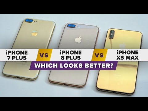 best service 3ce66 9c8f1 Gold iPhone XS Max vs. iPhone 8 Plus vs. iPhone 7 Plus: Which looks better?