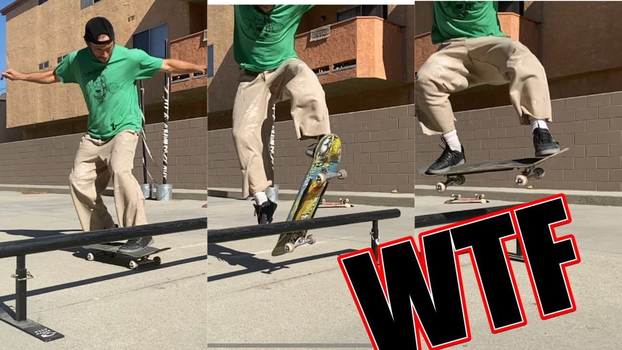 HOW TO DO ONE OF THE NEWEST SKATEBOARD TRICKS (THE RAILLE)