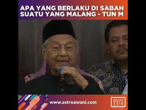 Apa yang berlaku di Sabah adalah suatu yang malang - Tun M