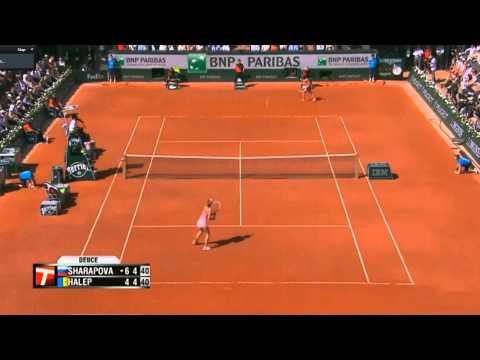 Sharapova vs Halep French Open Final