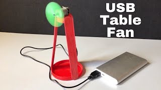How to Make USB Table Fan at Home - Very simple