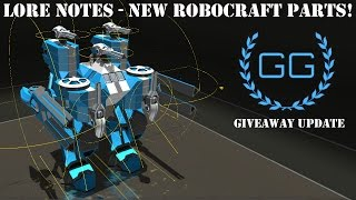 ROBOCRAFT - LORE NEWS & MORE - NEW PARTS ANNOUNCED!