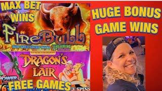 🔥FIRE BULL & DRAGON'S LAIR🔥HUGE WINS KICKAPOO LUCKY EAGLE CASINO