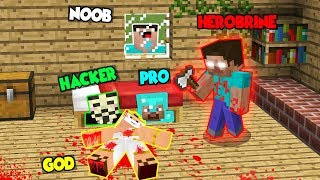 Minecraft NOOB vs PRO: AN UNEXPECTED ATTACK OF HEROBRINE TO GOD! 100% trolling