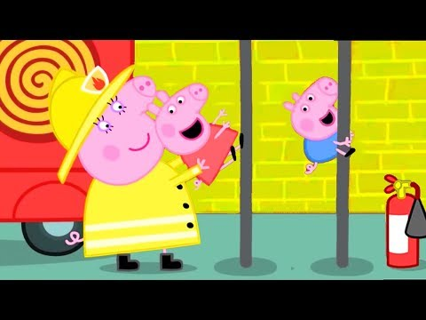 Peppa Pig Official Channel   Peppa Pig's Fire Engine Practice with Mummy Pig