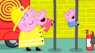 Peppa Pig Official Channel  Peppa Pig&#39s Fire Engine Practice with Mummy Pig
