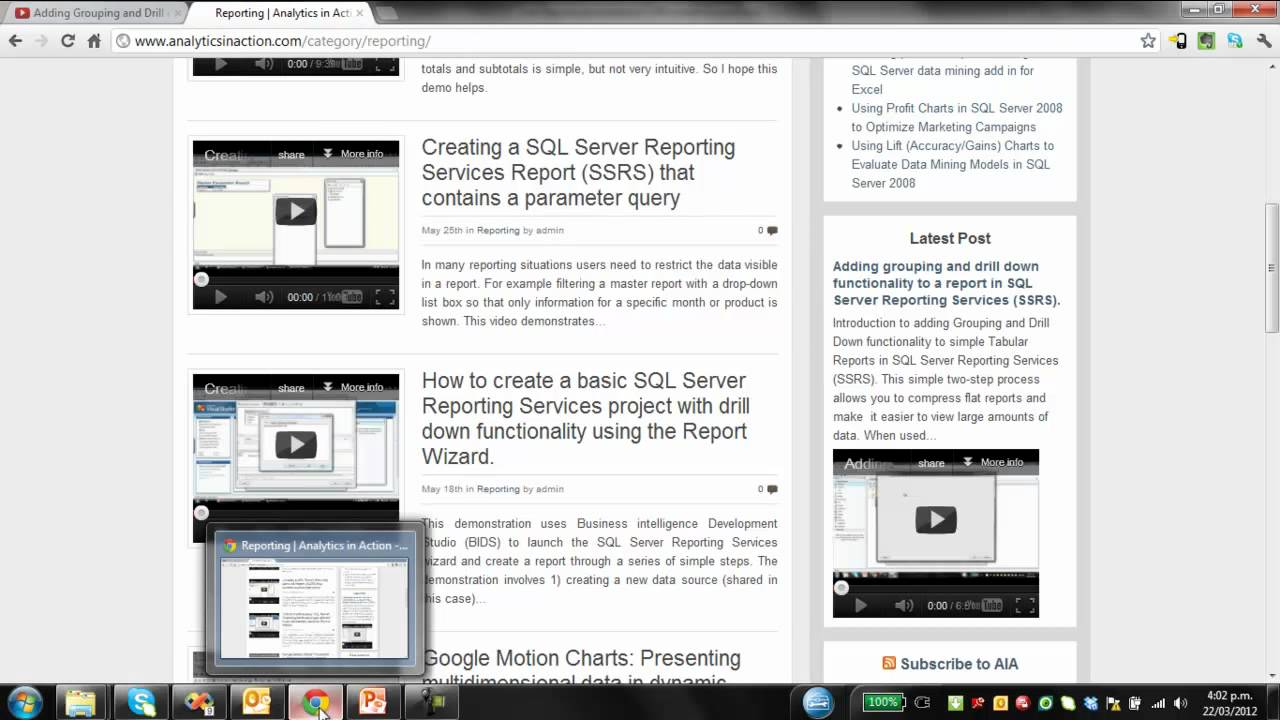 Creating a Subreport using Microsoft SQL Server Reporting Services (SSRS)
