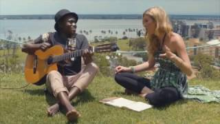 Joss Stone in Mozambique doing a collaboration with Deltino Guerreiro