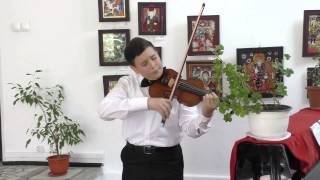 Charles Dancla   Etude No 1 Op 73   Cristian Teodor Simion   11 years old   4 years of violin study