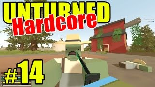"Unturned HARD Mode - E14 ""Violent Farm Ninja Zombies!!"" (Overgrown 3+ Map)"