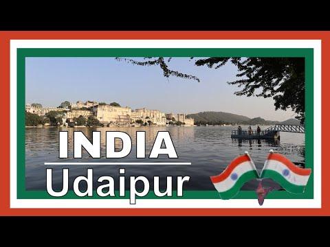 Tourist in Udaipur Rajasthan India City Palace Udaipur lake & island Manji Raj Kaghat video