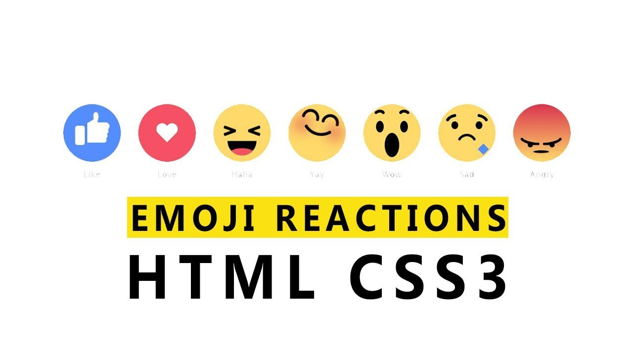 Emoji Reactions Using Html Css 3 Web Design Tutorial Youtube Emoji meaning an ancient scroll, unrolled to reveal text on papyrus or parchment paper. emoji reactions using html css 3 web design tutorial