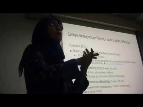 Teaching bioethics in Indonesia - Drs. Amalia  Muhaimin, Dyah Woro Dwi Lestari & Miko Ferine,AUSN