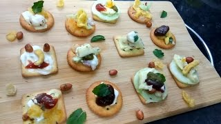 Biscuits Canapes | Apetizer | Party starter | Tea-time snack