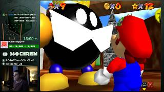Super Mario 64 Randomizer 120 Star Speedrun in 3:00:13 Former World Record (Random Seed)