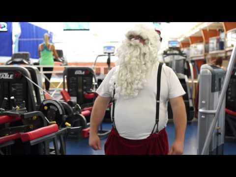 Santa Claus At The Gym