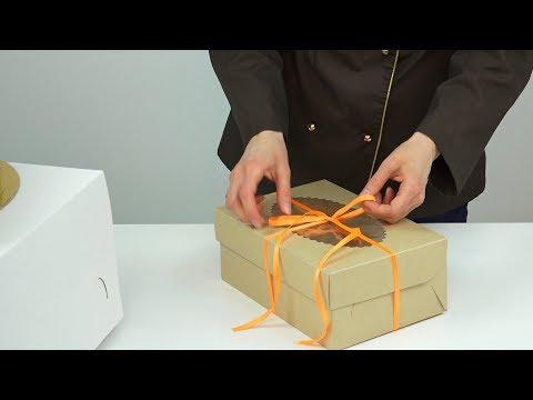 Как завязать торт лентой