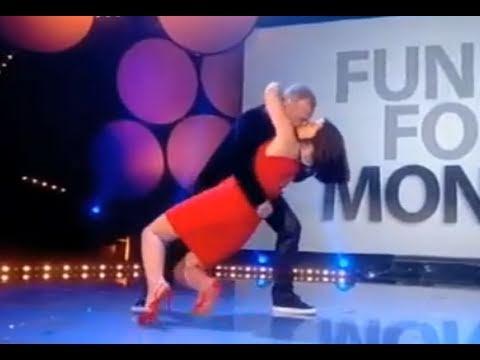 Big Red Nose Kiss! Davina McCall and Graham Norton