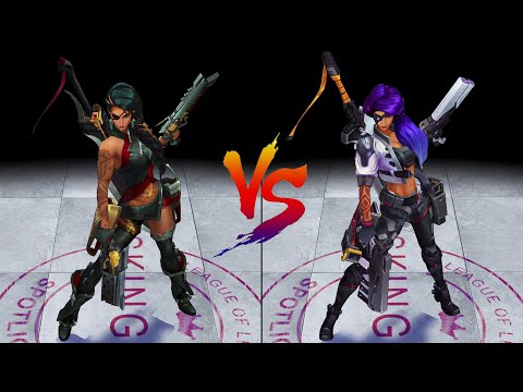 Samira vs PsyOps Samira Skin Comparison Spotlight (League of Legends)
