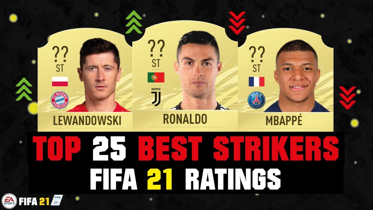 FIFA 21 | TOP 25 BEST STRIKER RATINGS! 😱🔥| FT. RONALDO, LEWANDOWSKI, MBAPPE... etc