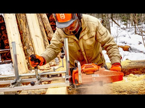 making-lumber-for-my-log-cabin-with-an-alaskan-chainsaw-mill
