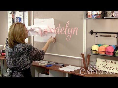 How to Paint a Name on a Wall with a Vinyl Stencil