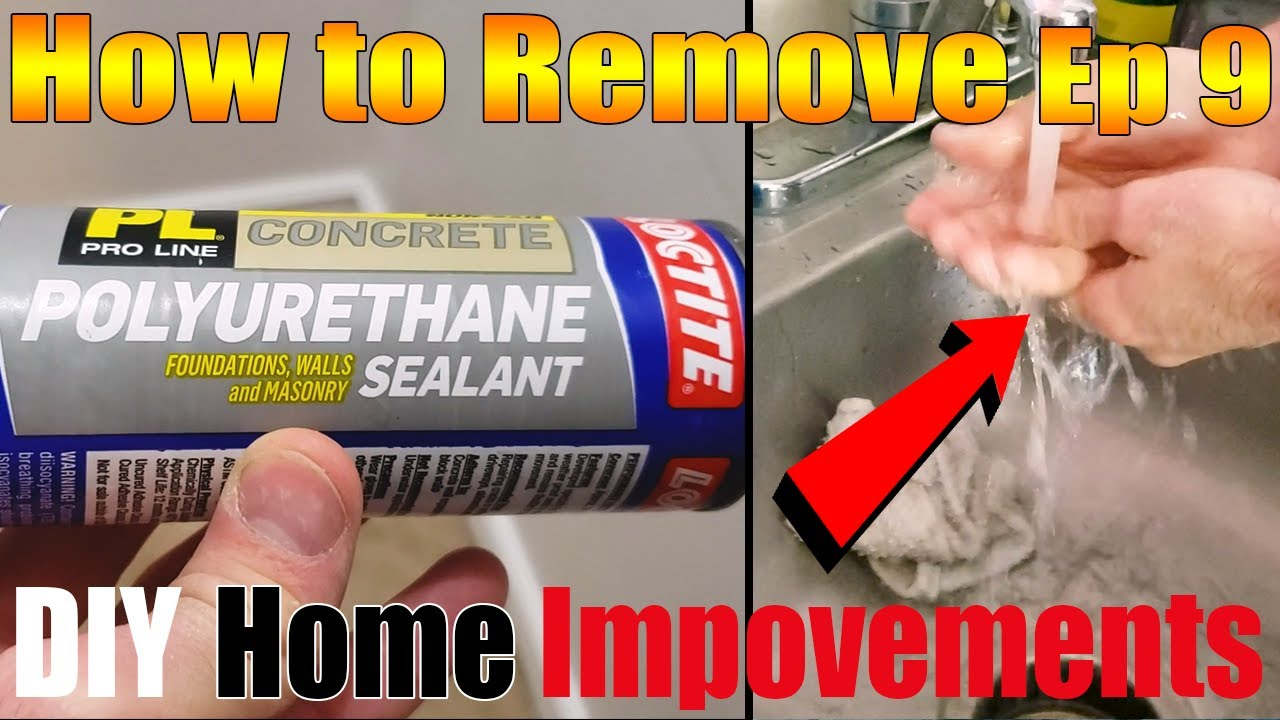 How To Remove Polyurethane Sealant Cement Diy Home Improvements Ep 9 Youtube