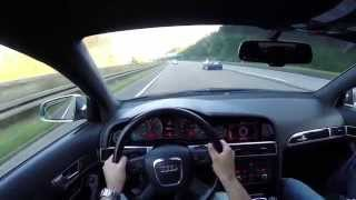 Audi A6 4.2 FSI Avant (2008) on German Autobahn - POV Top Speed Drive(Audi A6 4.2 FSI (2008, 257 kW / 349 PS / 344 hp) driven with max speed on the German Autobahn. Audi A6 4.2 FSI (2008, 257 kW / 349 PS / 344 hp) mit ..., 2015-02-17T18:05:11.000Z)